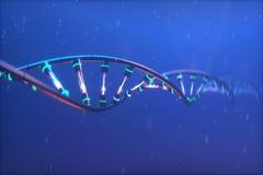 3D rendem o modelo tecnologico do ADN da ilustração foto de stock royalty free