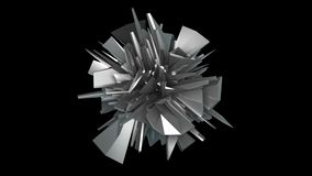 3d rendem o objeto do fractal no espaço, fundo moderno abstrato, gerado por computador vídeos de arquivo