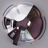 3d rendem o panorama 360 do interior do banheiro Fotos de Stock