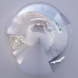3d rendem o panorama 360 do interior do salão da escadaria Foto de Stock