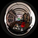 3d rendem o panorama sem emenda do design de interiores no chiqueiro do sótão Imagens de Stock