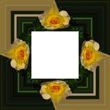 3D rendem o quadro do fundo da flor Imagem de Stock Royalty Free