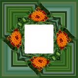 3D rendem o quadro do fundo da flor Imagens de Stock