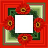 3D rendem o quadro do fundo da flor Fotografia de Stock Royalty Free