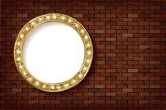 3D rendem o sinal claro da placa do círculo do famoso ilustração stock