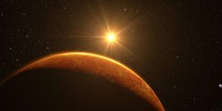 3D rendem o Vênus do planeta fotografia de stock royalty free