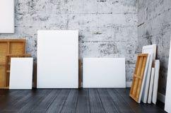 3d rendem Zombaria acima do cartaz no interior do moderno Fundo Imagem de Stock