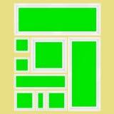 3d rendent d'un ensemble de cadres de tableau vides Images libres de droits