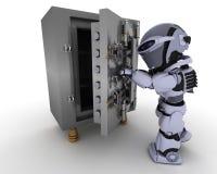 Robot avec illustration de vecteur