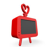 3d rendent d'un televsion génial frais de style ancien Images libres de droits