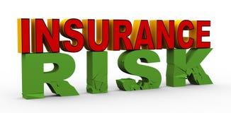 assurance 3d au-dessus de risque Photographie stock libre de droits