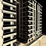 3d rendent de l'extérieur de bâtiments illustration libre de droits
