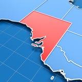 3d rendent de la carte d'Australie du sud illustration de vecteur