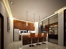 3d rendent de la cuisine intérieure Photos stock