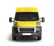 3d rendent de la livraison jaune Van Icon Photos stock