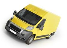 3d rendent de la livraison jaune Van Icon Photographie stock