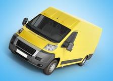 3d rendent de la livraison jaune Van Icon sur le gradient Photographie stock