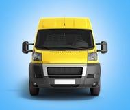 3d rendent de la livraison jaune Van Icon sur le gradient Photos libres de droits