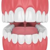 3d rendent de la mâchoire avec des dents illustration de vecteur