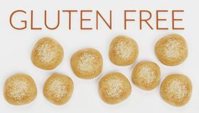 3D rendent de la nourriture gratuite de gluten Photographie stock