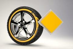 3d rendent de la roue de voiture Photographie stock libre de droits