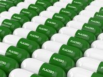 3D rendent des pilules de placebo Photographie stock libre de droits