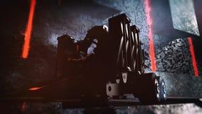 3D rendent du concept de machine de la science fiction Illustration de Vecteur