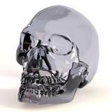 3d rendent du crâne en cristal Images libres de droits