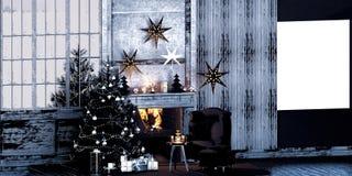 3d rendent du décor de Noël photo stock