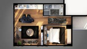 3D rendent du plan d'étage Photo stock