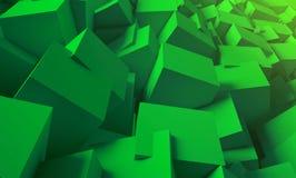 3d rendent Fond lumineux et juteux des cubes Illustration Stock