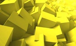 3d rendent Fond lumineux et juteux des cubes Illustration de Vecteur