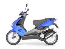 3d rendent d'isolement sur le scooter blanc de bleu de fond Illustration de Vecteur