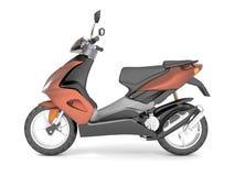 3d rendent d'isolement sur le scooter blanc de brun de fond Illustration de Vecteur