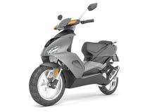 3d rendent d'isolement sur le scooter blanc de gris de fond Illustration Libre de Droits