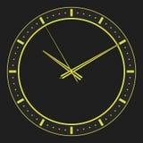 3d rendent, l'illustration 3d Horloge abstraite, cadran avec une inscription et flèches illustration stock