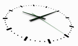 3d rendent, l'illustration 3d Horloge abstraite, cadran avec une inscription et flèches illustration de vecteur