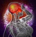 3d rendent l'illustration médicale du crâne supérieur Image stock