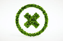 3d rendent l'image du symbole d'annulation d'eco Photographie stock