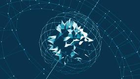 3d rendent la basse poly sphère de Dyson d'illustration illustration libre de droits