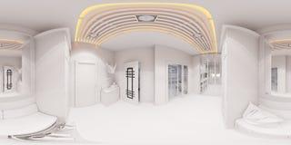 3d rendent la conception intérieure de hall dans le style classique Photographie stock