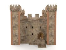 3d rendent la forteresse en pierre de brique Photo libre de droits