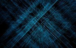 3D rendent la ville abstraite des particules, matrice tridimensionnelle, code binaire illustration stock