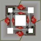 3D rendent le cadre de fond de fleur Photos libres de droits