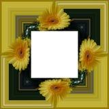 3D rendent le cadre de fond de fleur Photo stock