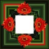 3D rendent le cadre de fond de fleur Image libre de droits