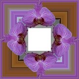 3D rendent le cadre de fond de fleur Images stock