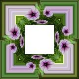 3D rendent le cadre de fond de fleur Photographie stock
