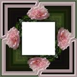 3D rendent le cadre de fond de fleur Image stock