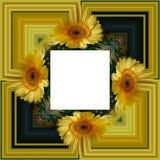 3D rendent le cadre de fond de fleur Photos stock